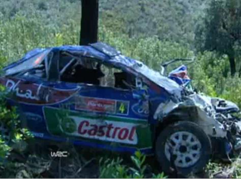 WRC: 17 tonneaux, Latvala tombe dans un ravin (Vidéo) Plus gros accident de sa carrière