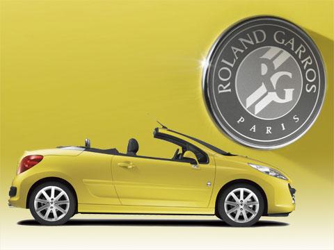 Peugeot 207 CC Roland-Garros Couleur balles de tennis