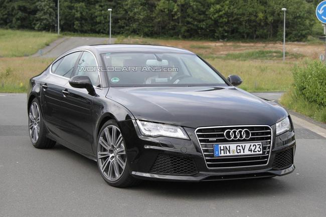 L'Audi S7 Sportback a été aperçue, sans camouflage, près du circuit de Nürburgring en Allemagne, dan...