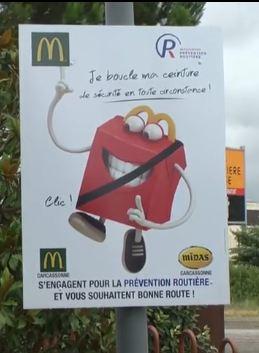 A Carcassonne et à Limoux, la Prévention Routière s'associe à McDonald's afin de créer une campagne ...