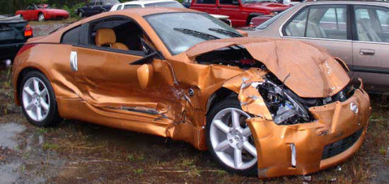 Le Crash d'une Nissan 350Z