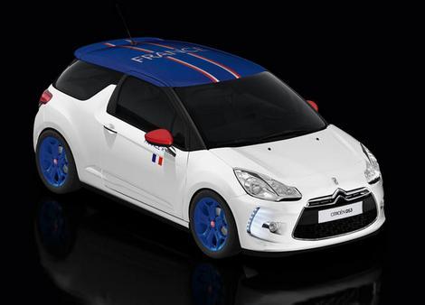 La Citroën DS3 personnalisée aux couleurs des équipes France VS Brésil : c'est aussi un match de voitures…
