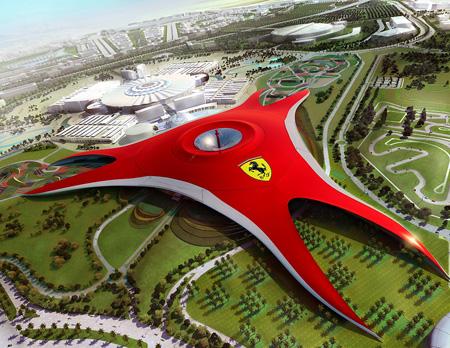 Parc d'attractions Ferrari World Abu Dhabi (vidéo) Avec Fernando Alonso et Felipe Massa