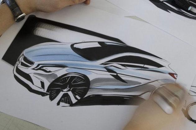 Mercedes nous a dévoilé son premier sketch de la future Mercedes-Benz Classe A
