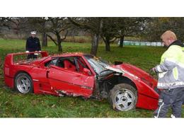 Un octogénaire détruit sa Ferrari F40