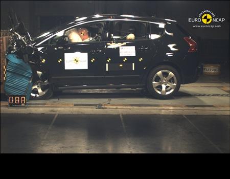 Peugeot 5008 et 308 l'Euro NCAP a décerné 5 étoiles