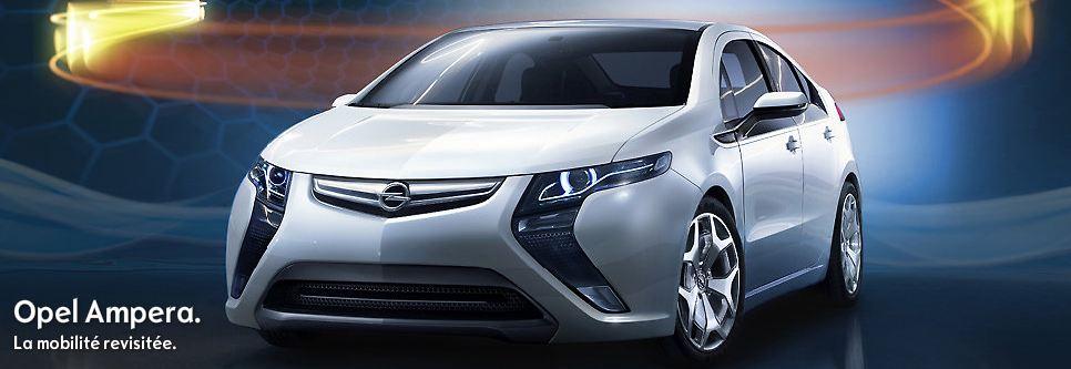 Opel a enfin dévoilé le prix de sa voiture électrique, en effet, l'Opel Ampera se vendra à partir de...