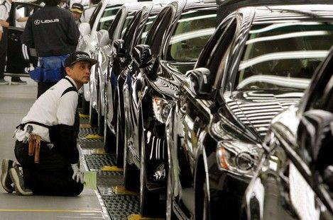 Arrêt momentané de la production de Toyota La neige responsable de cet arrêt