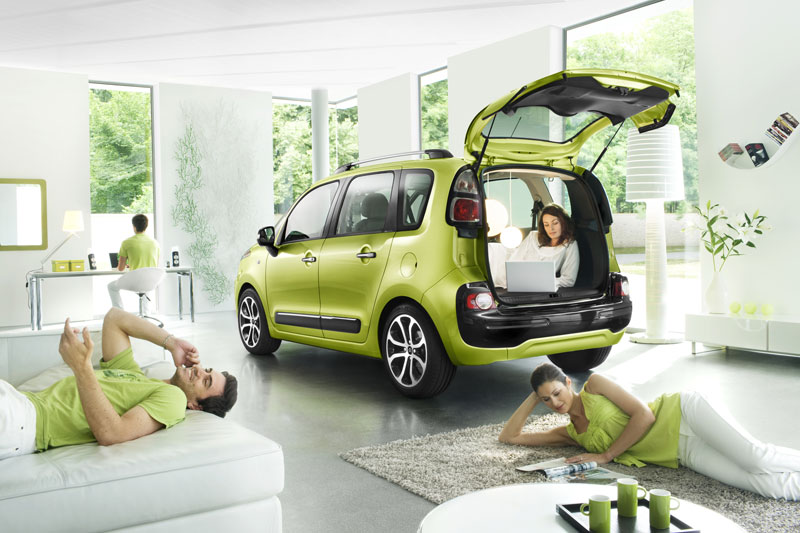 citroen c3 picasso dimensions coffre images