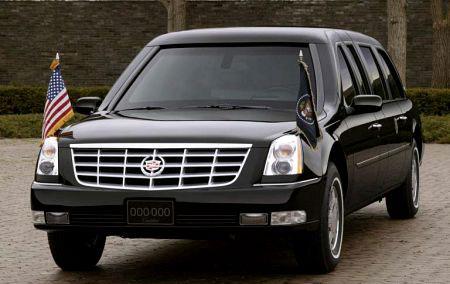 Le président américain a eu le privilège de voyager à bord de la toute nouvelle limo Cadillac. C'éta...