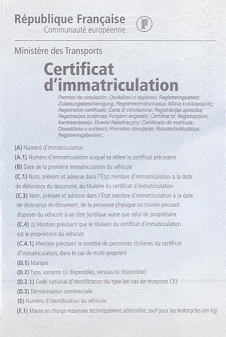 Si votre certificat d'immatriculation est détérioré,  Comment faire?