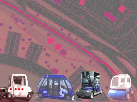 Expérimentation du premier bus sans chauffeur Le cybercar roule à une vitesse moyenne de 20km/h et a une autonomie d'une journée