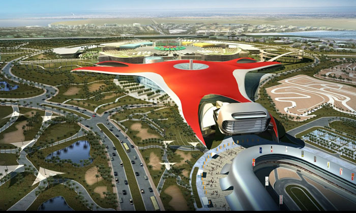 Ferrariland le futur parc d'attraction Ferrari Projet faramineux