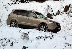 Hyundai Santa Fe 2.2 CRDi Colorado Risqué de s'engager avec lui dans les sous-bois