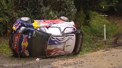 Sebastien Loeb : l'accident au rally d'Australie (Vidéo)