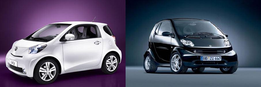 Quelle micro-citadine de moins de 3 mètres choisir ? (Vidéo) Toyota IQ ou Smart Fortwo, à vous de choisir.