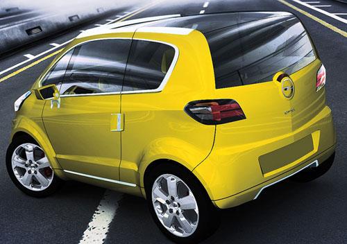 Opel Trixx Ce petit concept aligne beaucoup de trouvailles pour concurrencer la Smart