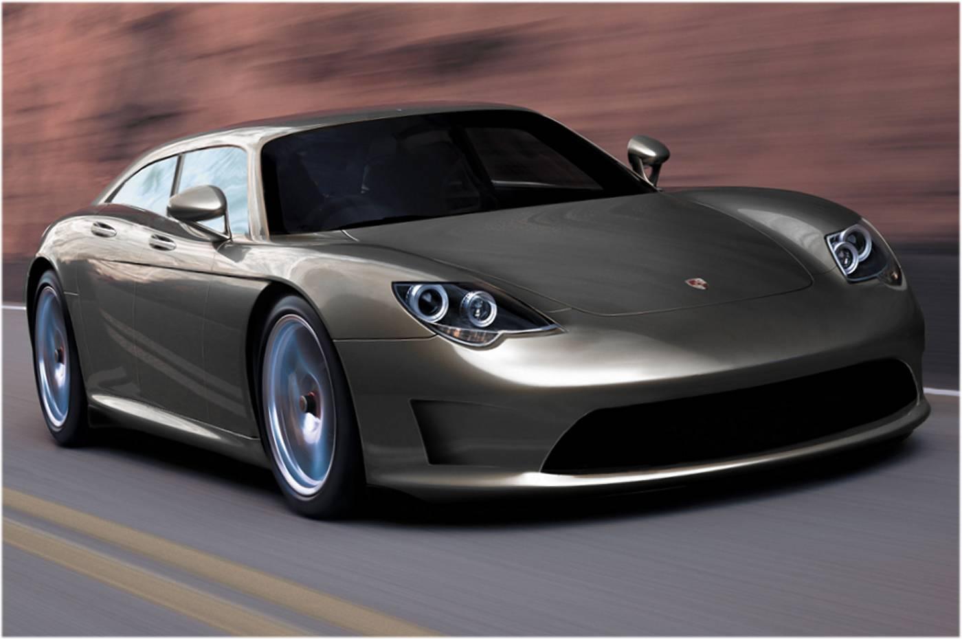 Porsche lève enfin le voile sur la Panamera, une grande routière à moteur avant qui se déclinera aus...