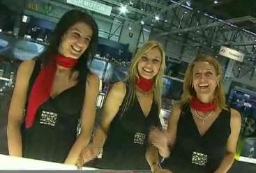 Les hôtesses les plus sexy du Salon de Genève 2009  Vidéos des plus belles filles