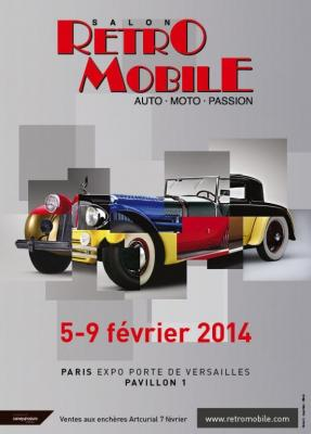 Rétromobile 2014 : Plus de  500 voitures de collection exposées (Video)