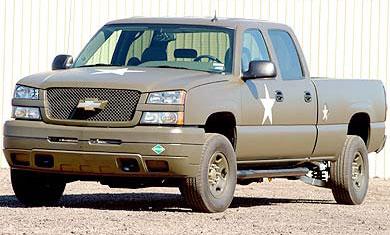 Un Chevrolet Silverado à pile à combustible  Pour mettre l'armée US à l'hydrogène